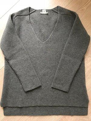 Hermes 100% Kaschmir Pullover S 36 38 Grau Braun Cashmere Sweater Shirt Grey Brown