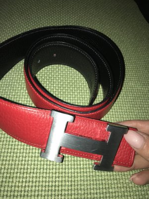 Hermès Belt dark red