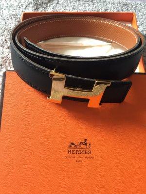 Hermès Ceinture noir-doré