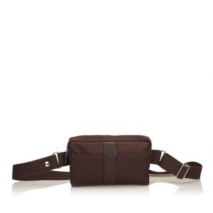 Hermès Buiktas donkerbruin Nylon