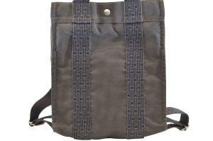 Hermès Sac à dos noir fibre textile