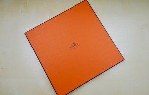 Hermès Zijden doek neonoranje-goud Oranje