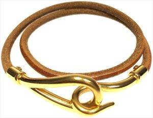 Hermès Armband Armreif Farbe Gold Braun Wickelarmband Kette