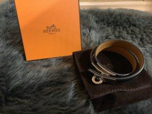 Hermès Braccialetto sottile nero-argento