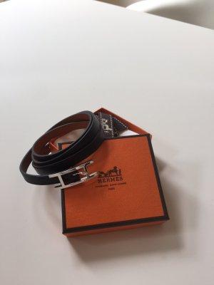 Hermès, Armband, Leder, schwarz,