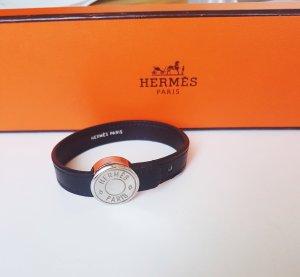 Hermes  Armband schwarz und rot silber