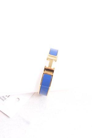 Hermès Armreif goldfarben-blau Elegant