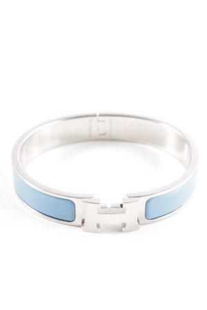 Hermès Jonc argenté-bleu clair style décontracté