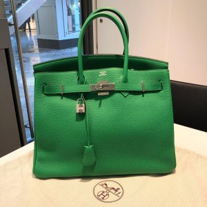 Hermès Birkin Bag 35 im Special 2014 Grün
