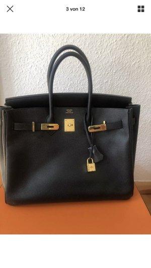 Hermes Birkin Bag schwarz Gold Epsom 35 mit Rechnung