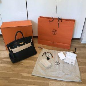 Hermès Birkin Bag Schwarz Togo Fjord mit goldenen Beschlägen 40 OVP mit Rechnung ORIGINAL