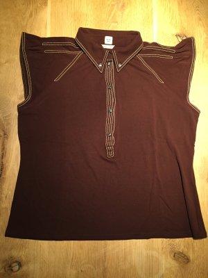 Hermès Bluse Hemd Oberteil Braun Viskose Gr. 42 40