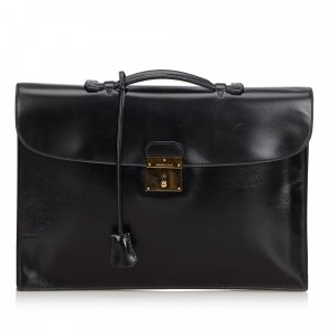 Hermes Box Leather Quirus Business Bag
