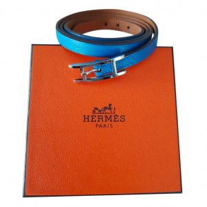 Hermès Bracelet bleuet-bleu azur cuir