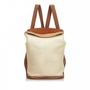 Hermes Canvas Sherpa Backpack