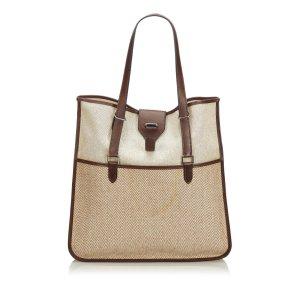 Hermes Canvas Tote Bag