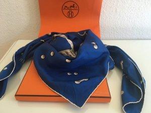 Hermès Bufanda de seda azul