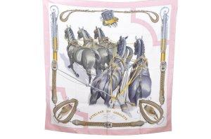 Hermès Bufanda de seda rosa Seda