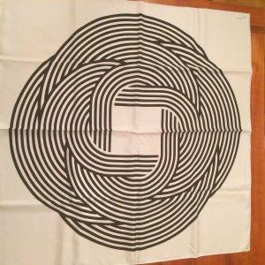 Hermès Carré Seide Schal schwarz weiß *Letzter Preis*