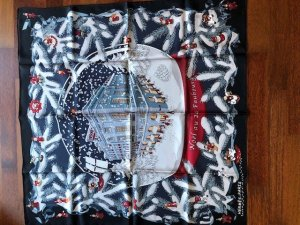 Hermès Fazzoletto da collo multicolore Seta