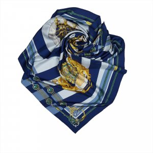 Hermes Chateaux D Arriere Silk Scarf