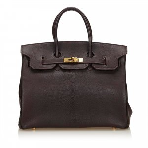Hermès Handbag brown leather