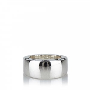 Hermès Ring silver-colored real silver