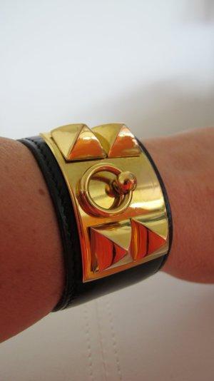 """HERMÈS """"Collier de Chien"""" bracelet Boxcalf schwarz NP 975,-€"""