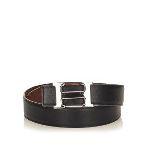 Hermès Cintura nero Pelle