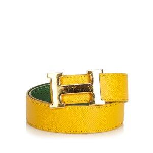 Hermès Riem geel Leer