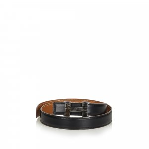 Hermès Belt black leather