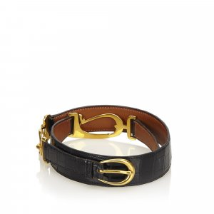 Hermes Crocodile Leather Belt