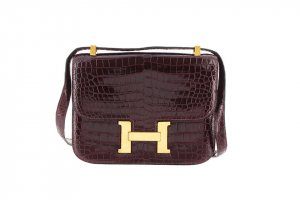Hermes Crocodile Leather Constance 23