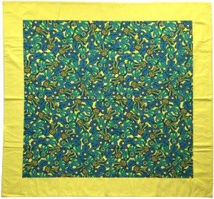 Hermès Decke, Tuch, Plaid aus Baumwolle mit Schleifen Motiv