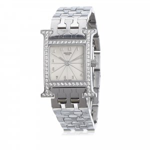 Hermes Diamond Heure H PM Watch