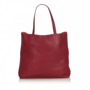 Hermès Tote red leather