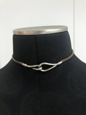 Hermes Double Tour Leder-Armband/Halsband