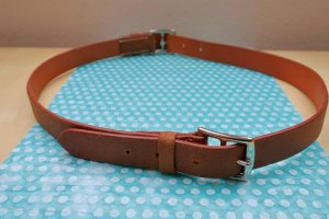 Hermès Double Belt cognac-coloured leather
