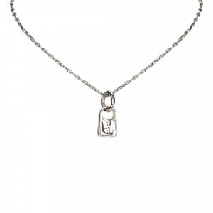 Hermes Evelyne Lock Pendant Necklace