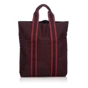 Hermès Bolso de compra burdeos