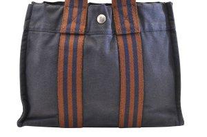 Hermès Bolso azul Algodón