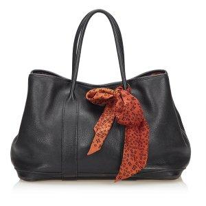 Hermès Bolso de compra negro Cuero