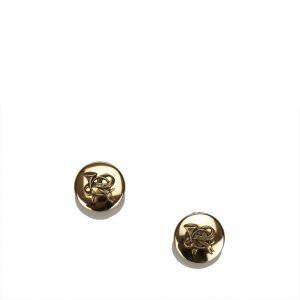 Hermes Gold-Tone Clip On Earrings