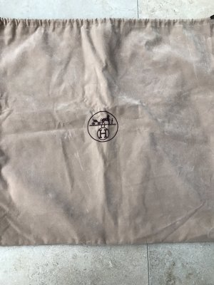 Hermès Borsa di tela marrone-grigio