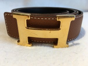 Hermès Leather Belt light brown-beige leather