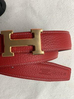 Hermès Ceinture réversible rouge