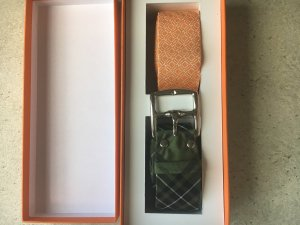 Hermès Belt orange-dark green