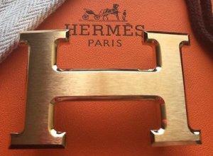Hermes Paris Belt black-cognac-coloured