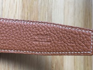 Hermès Reversible Belt light brown-black leather