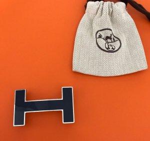 Hermès Gürtelschließe * dunkelblau * 100% Original * wie Neu!